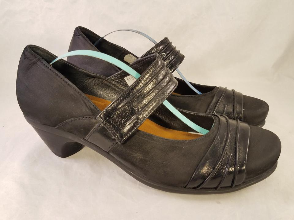 Naot Black Mary Janes Leather Nubuck Patent Leather Janes Pumps da2a1c