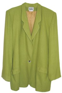 David Meister Silk Jacket Kiwi Green Blazer