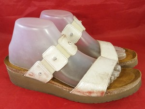 Naot Footwear Ashley Slides Rhinostones gold and brown Sandals