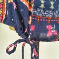 Forever 21 Floral Boho Tunic Top Blue, pink, Image 3