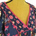 Forever 21 Floral Boho Tunic Top Blue, pink, Image 5