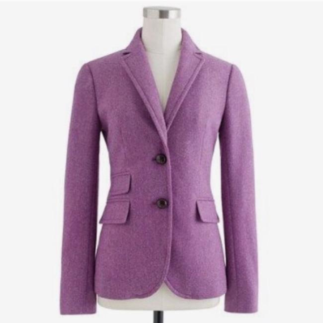 Item - Purple Pink Herringbone Hacking Jacket Blazer Size 2 (XS)