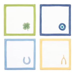 Tory Burch New with Tag Lucky Charm Cocktail Napkins