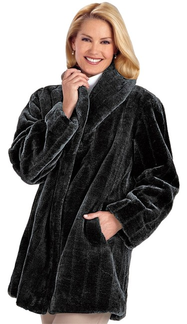 R & M Richards Faux Fur Fur Coat