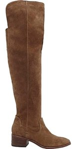 Dolce Vita Suede Leather Over The Knee Khaki Boots