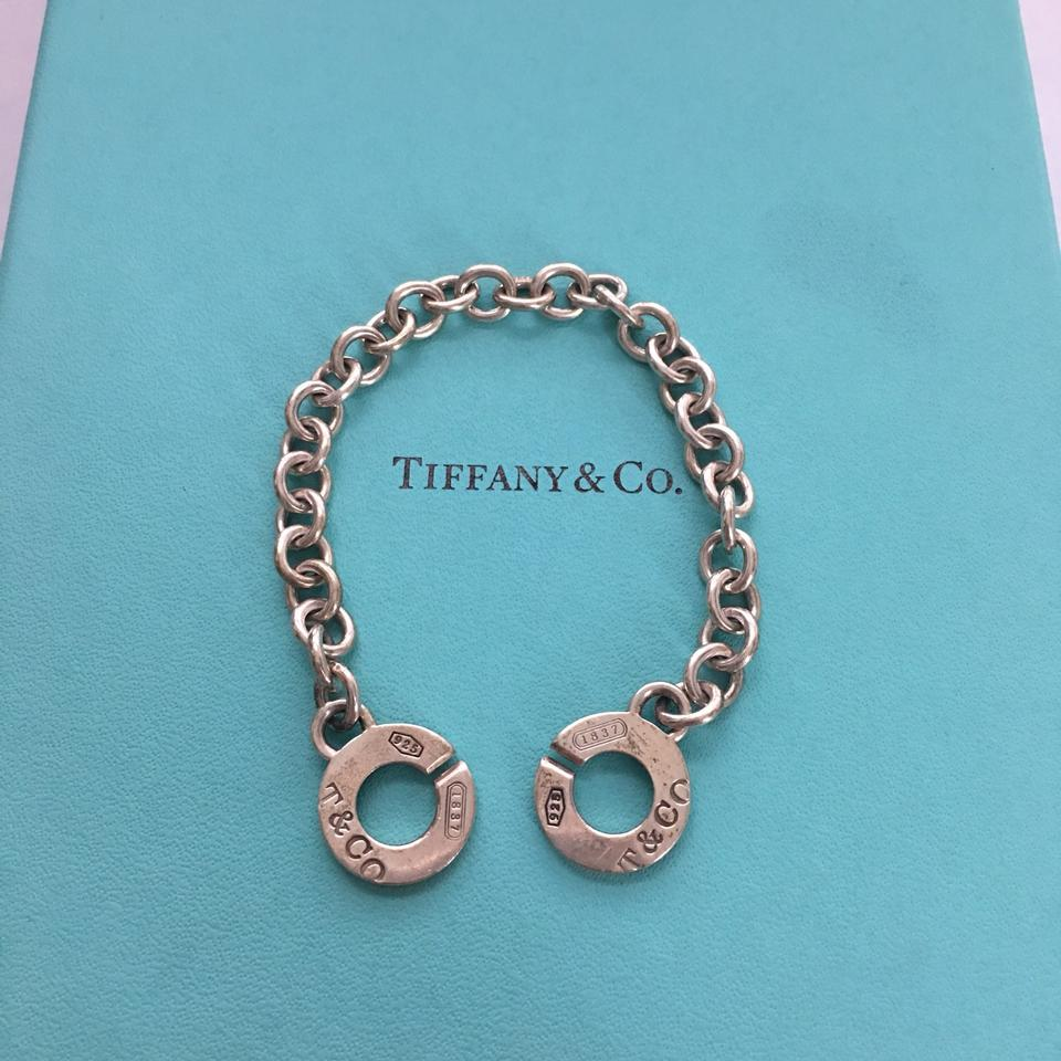 fe156787f Tiffany & Co. Silver 1837 T&co Circle Clasp Link Toggle 7.5