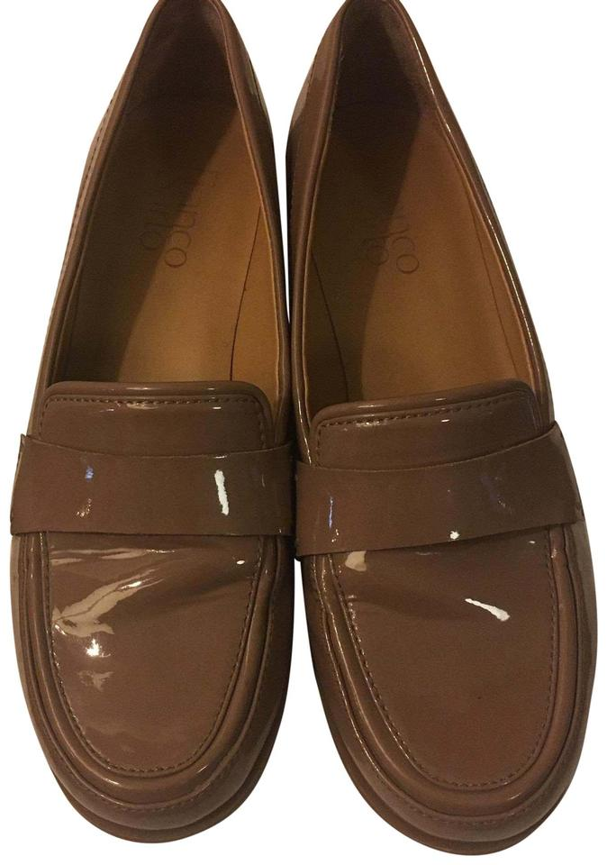 2b9451ba55e Franco Sarto Glossy Tapue Patent Leather Slip-on Loafers Flats Size ...