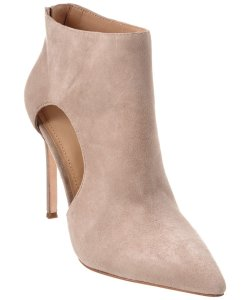 Pour La Victoire Suede Leather Ankle Taupe Boots