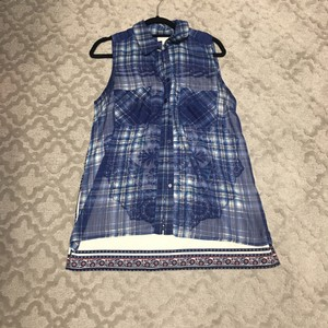 Band of Gypsies Button Down Shirt blue