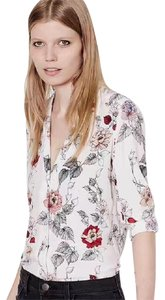 Equipment Button Down Shirt white with flower prints