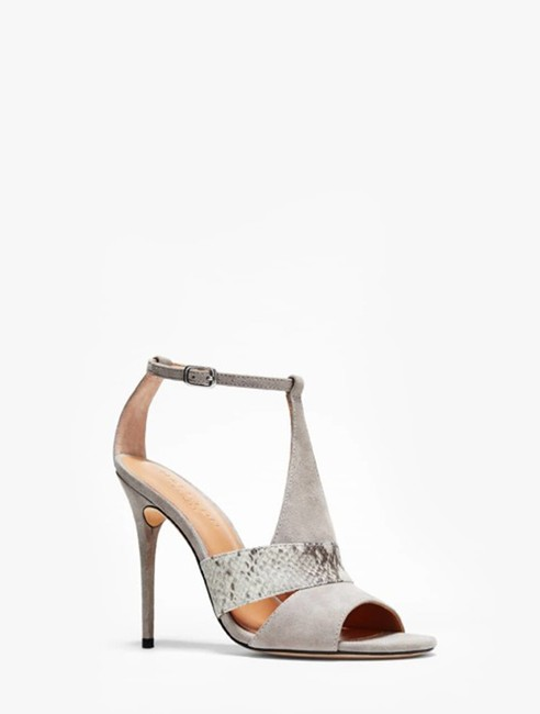 Item - Gray / Flint / Multi Snake Heritage Connie Combined Leather High Heel Sandal Formal Shoes Size US 9 Regular (M, B)