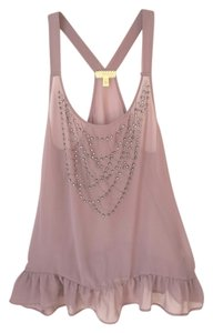 Anthropologie Pins And Needles Bejeweled Top Dusty Pink