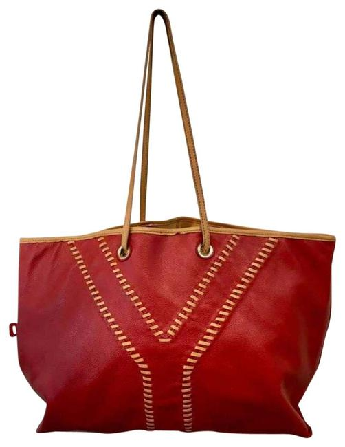 Saint Laurent Red Leather Tote Saint Laurent Red Leather Tote Image 1