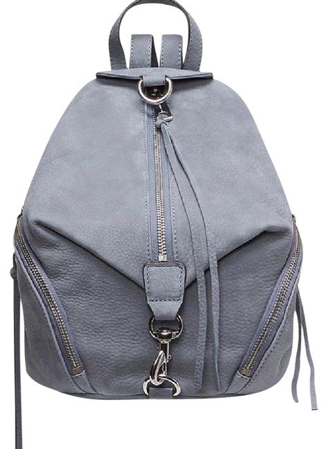 Item - Julian Medium Dusty Blue Nubuck Leather Backpack
