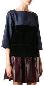 Marni Denim Velvet Top Blue, Black