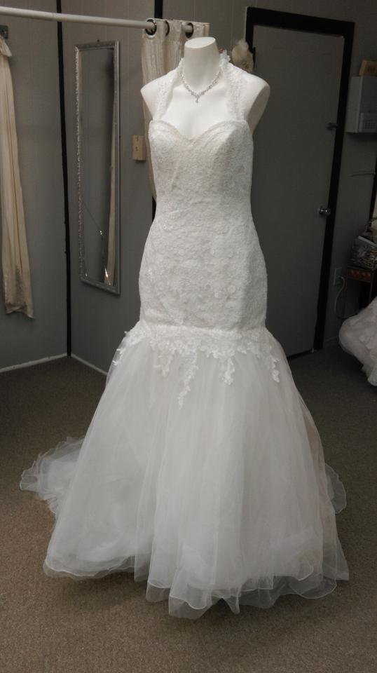 Impression Bridal Ivory Lace 12631 Feminine Wedding Dress Size 6 S