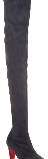 Item - Grey Alta Top 70 Suede Over The Knee Boots/Booties Size EU 37.5 (Approx. US 7.5) Narrow (Aa, N)