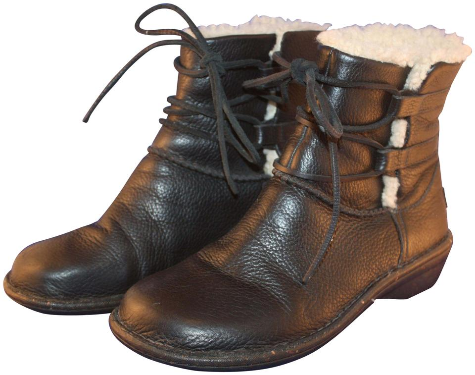 c2712f99bc6 UGG Australia Black Caspia Sheepskin Lined Lace Up Ankle Boots/Booties Size  US 8 Regular (M, B) 57% off retail