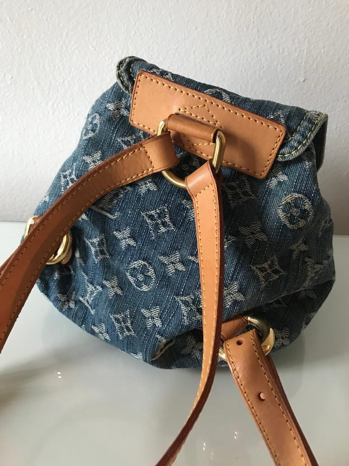 d6b320ec1037 Louis Vuitton Denim Supreme Monogram Backpack Image 6. 1234567