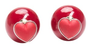 Unknown Double-Sided Heart Earrings