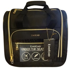 Bebe Sport Luggage Small Black with Gold Hardware Travel Bag