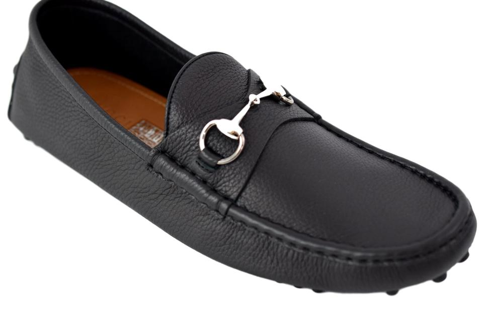 1abd42bfcd47 Gucci Black 236936 Men s Leather Drivers Loafers 11 G Flats Size US ...