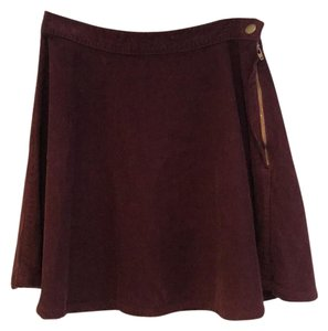American Apparel Mini Skirt maroon
