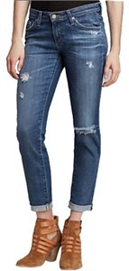 AG Adriano Goldschmied Capri/Cropped Denim-Distressed
