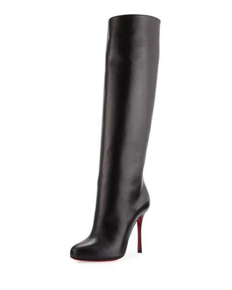 cheap price new cheap latest Christian Louboutin Black Vitish 100 Leather Knee High Tall Heels  Boots/Booties Size EU 36.5 (Approx. US 6.5) Regular (M, B) 34% off retail
