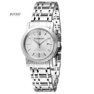 Burberry Brand New Burberry Silver Dial Stainless Steel Ladies Watch BU1351