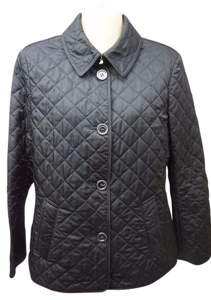 Burberry Brit Black Women S Copford Diamond Quilted Jacket Size 8 M