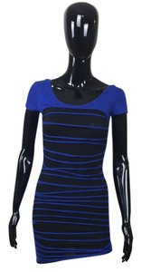 short dress Black/Blue Blue Black Short Sleeve on Tradesy