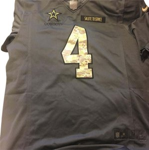 first rate 02e6c ce028 NFL Team Apparel Gray Dak Prescott Salute To Service Jersey Activewear Top  Size 12 (L)