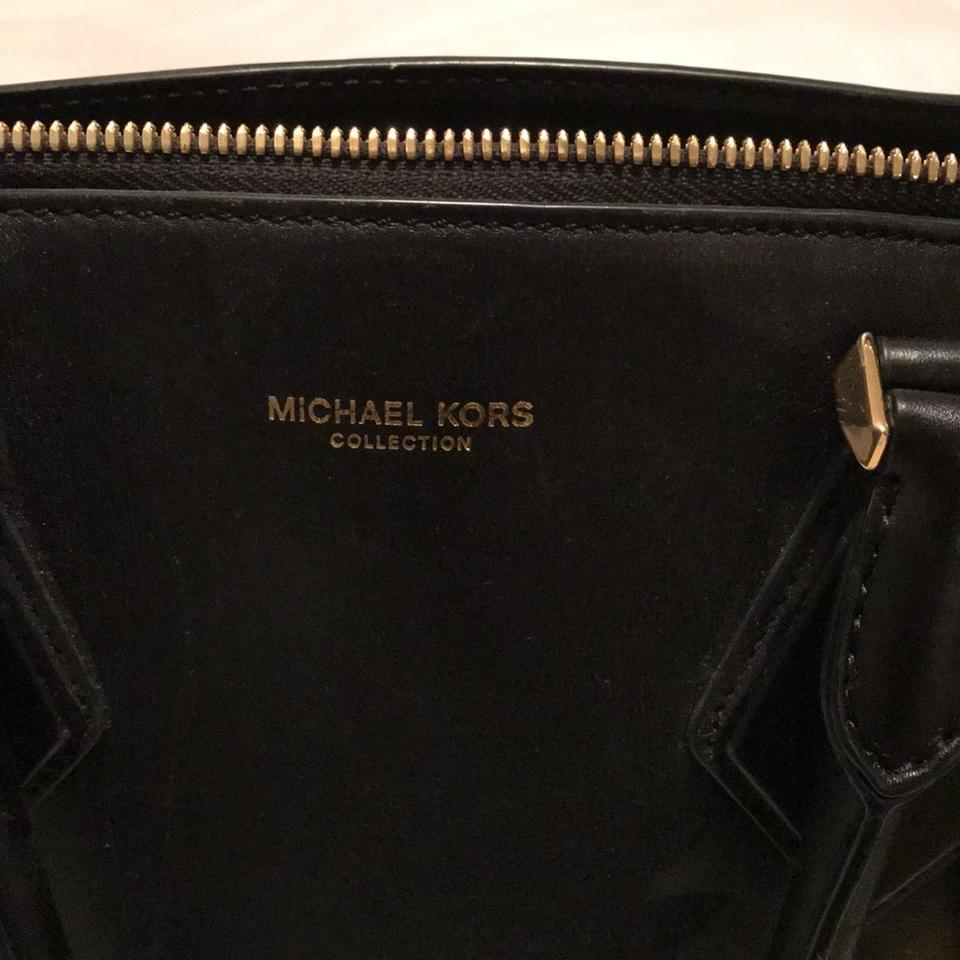 michael kors collection black leather barely used satchel tradesy. Black Bedroom Furniture Sets. Home Design Ideas