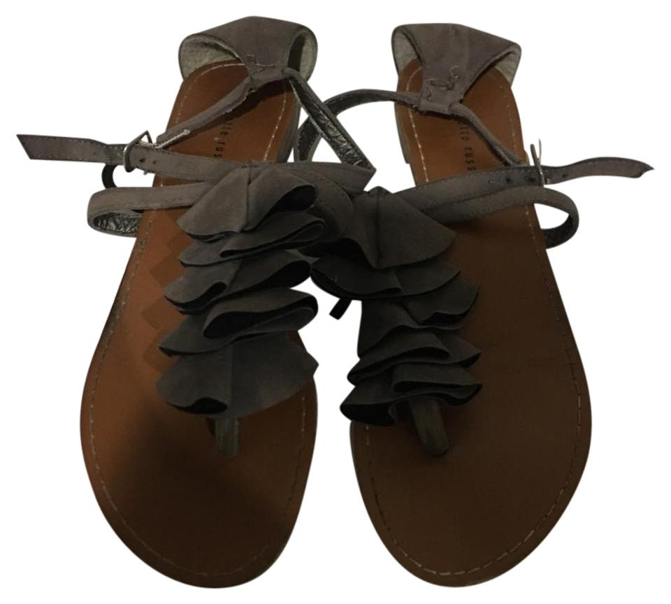 bb5de86da3266 Charlotte Russe Grey Cute Ruffles In Front. The Back Bottom Of The Right  Scuffed. See Picture Sandals