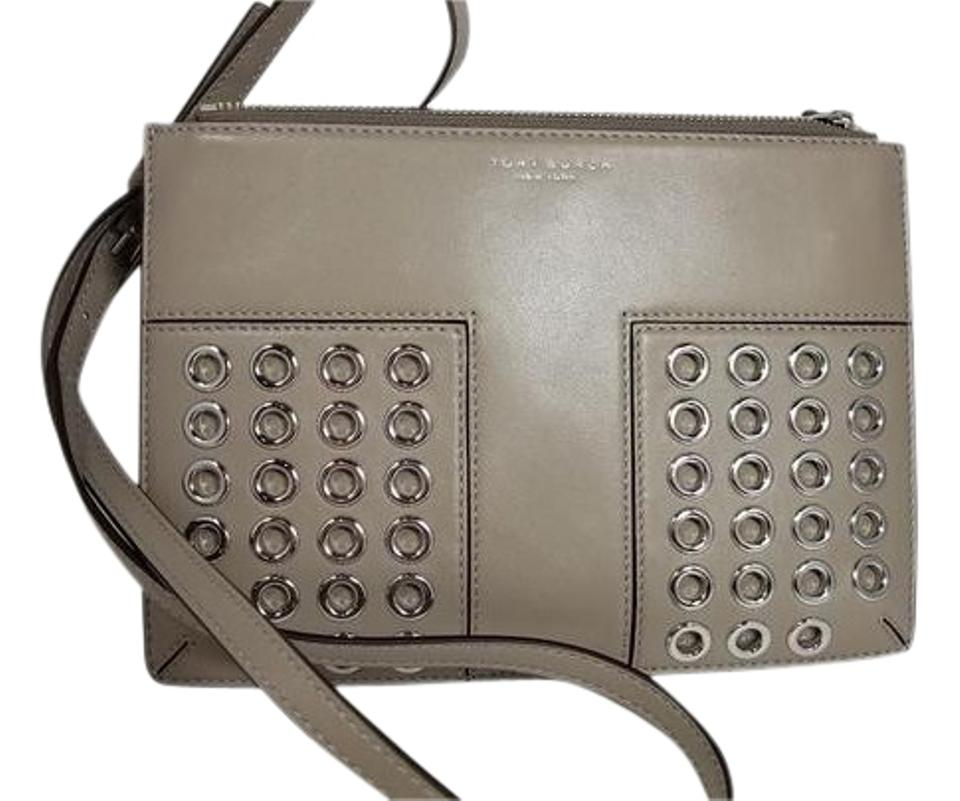 c90e46bbab0b Tory Burch Block-T T Grommet Mini In 31615 French Gray 036 Leather ...