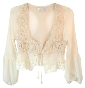 Lil.co Boho Bohemian Game Of Thrones Chiffon Top Ivory