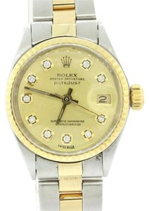 Rolex Rolex DateJust 6517 14k Gold Steel 26mm Champagne Diamond Dial Watch