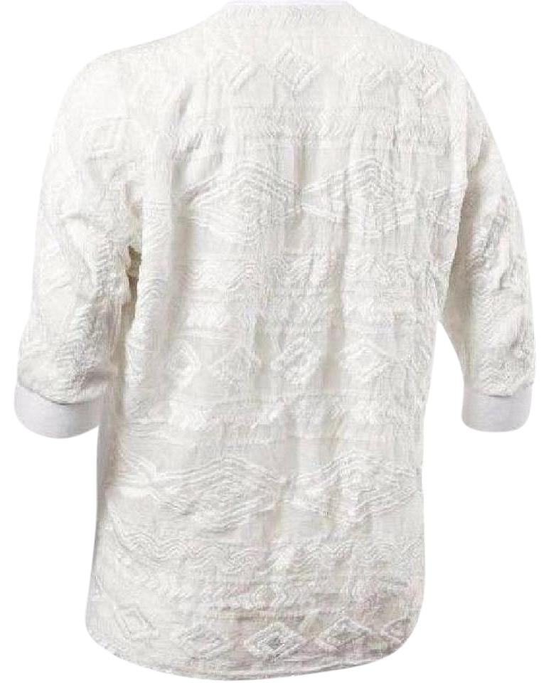 90d2677c8fd2f CAbi White Waverly Linen Blouse Size 6 (S) - Tradesy
