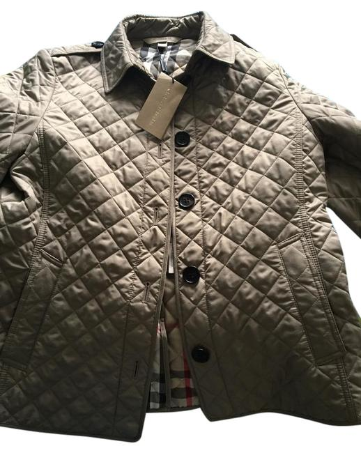 Item - Beige Quilted Court In Color Coat Size 12 (L)