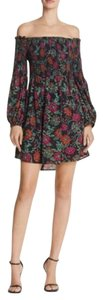 LIKELY short dress Black + multicolor floral Night Out Puffsleeve Mini on Tradesy