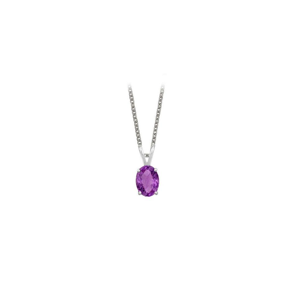 Purple silver oval shaped amethyst pendant sterling 1ct necklace marco b oval shaped amethyst pendant necklace in sterling silver 1ct aloadofball Images