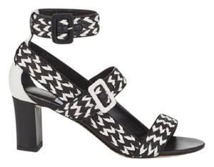 Jimmy Choo Black & White Sandals