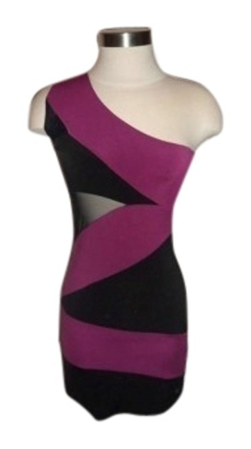 Preload https://img-static.tradesy.com/item/22390/arden-b-black-and-pink-one-shoulder-mini-night-out-dress-size-4-s-0-1-650-650.jpg