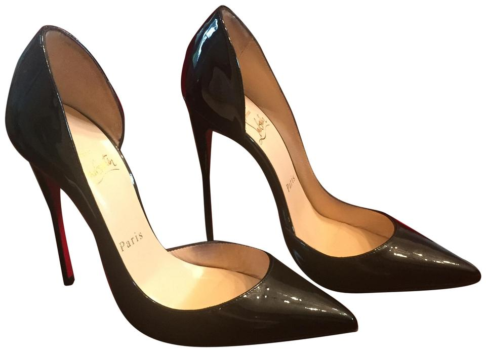 finest selection b4ed8 ecb5d Christian Louboutin Black Patent Leather Iriza 120mm Heels 35.5 Pumps Size  US 5.5 Regular (M, B) 38% off retail