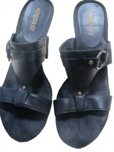 Aerosoles Leather Black Sandals