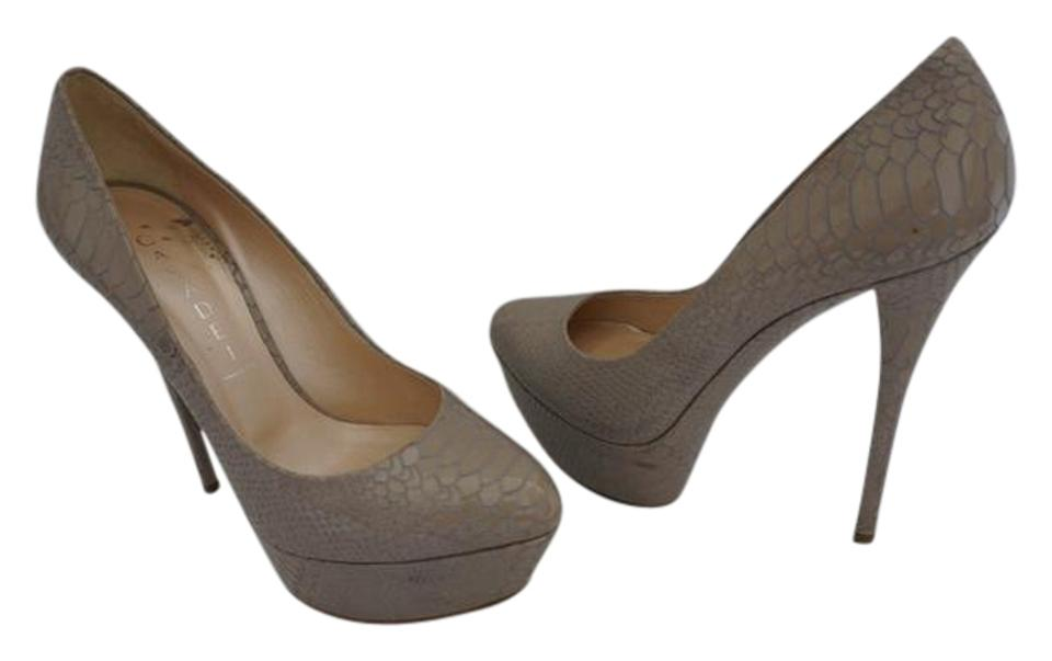 Casadei Taupe Tan Patent Platforms Leather Snakeskin Embossed Stiletto Platforms Patent f822dd