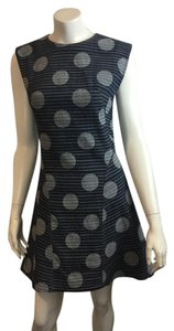 Kenzo short dress Navy blue Denim Polka Dot on Tradesy
