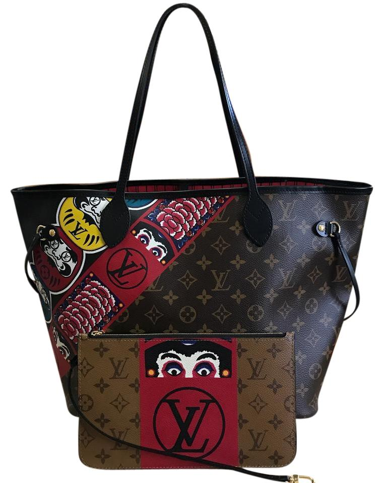 228192281418 Louis Vuitton Neverfull Shoulder Pochette Clutch Tote in (Monogram) Image 0  ...