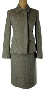 Max Mara Max Mara Herringbone Tweed 2-Pc Skirt Jacket